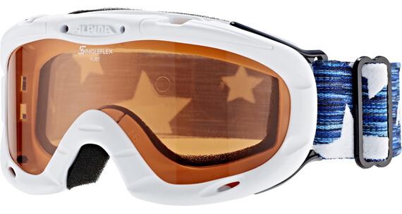 Alpina Ruby S Singleflex Hicon S1 goggles Kinderen wit/zwart